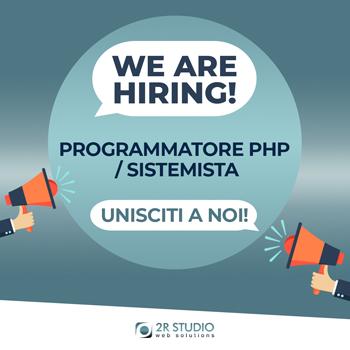 2R Studio ricerca Programmatore PHP / Sistemista